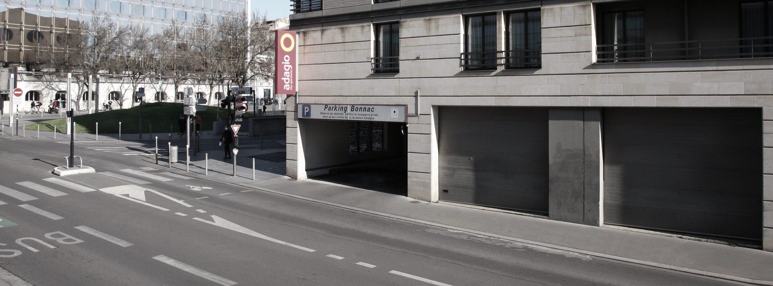 Parking Bonnac METPARK dans le centre ville de Bordeaux, quartier Mériadeck